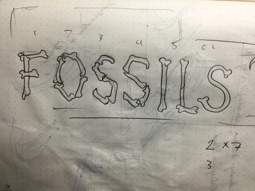This is the sketch I did to get approval for the lettering